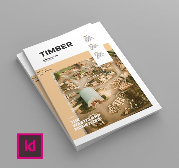 Timber - Magazine Template in Magazine Templates - product preview 1