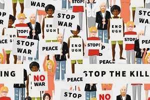 Anti War Demonstration pattern