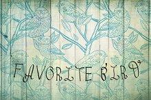 seamless pattern with bird sparrow
