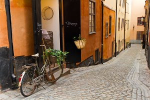 The old street in Stockholm
