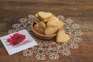 Heart shaped butter cookies