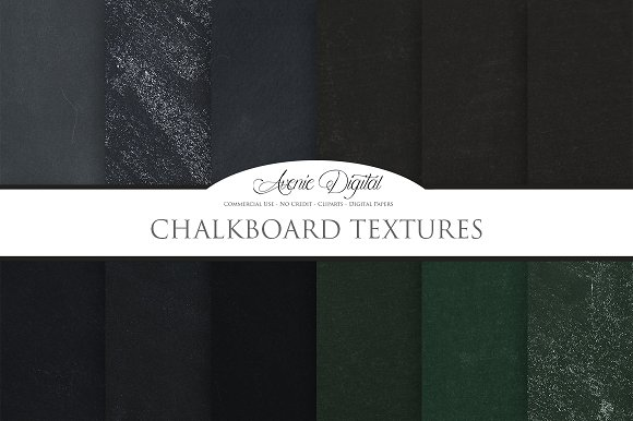 Chalkboard Textures Digital Papers