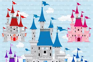 Fairytale Castles Clipart AMB-992