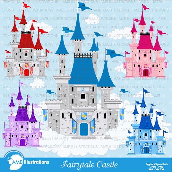 Fairytale Castles Clipart AMB-992 ~ Illustrations on Creative Market