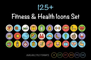 125+ Fitness and Health Icons