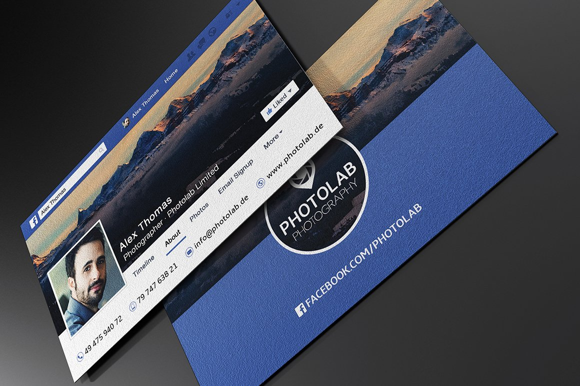 Facebook business card business card templates creative market wajeb