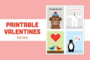 Printable Valentines – Set One