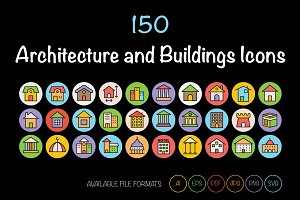 150 Architecture and Buildings Icons
