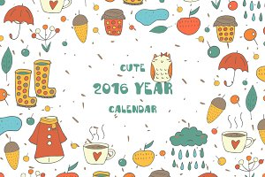 Cute 2016 year Calendar