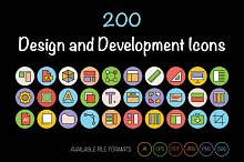 200 Design and Development Icons