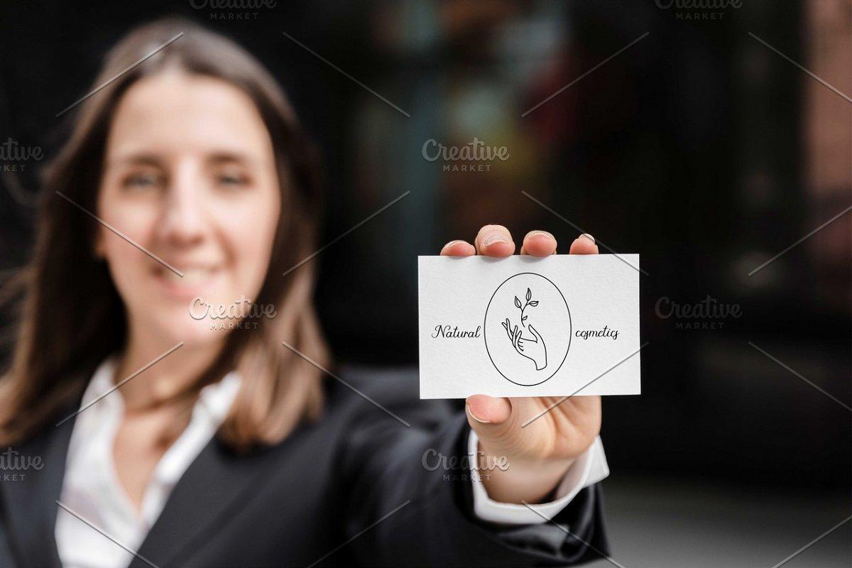 55 Hands line illustration +Logo