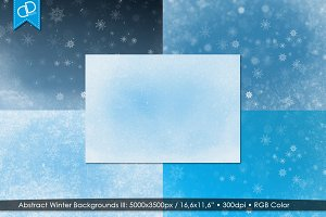 Abstract Winter Backgrounds III