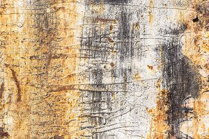 Rusty yellow metal surface