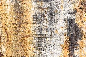 Rusty yellow metal surface