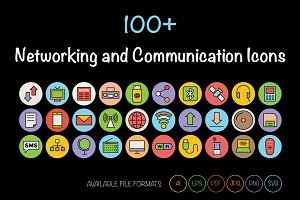 100+ Networking & Communication Icon