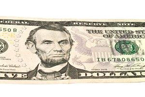 Five dollars bill