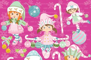 Christmas Girl Elves AMB-994