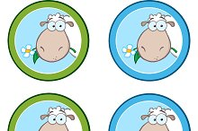 Circle Labels With Sheep