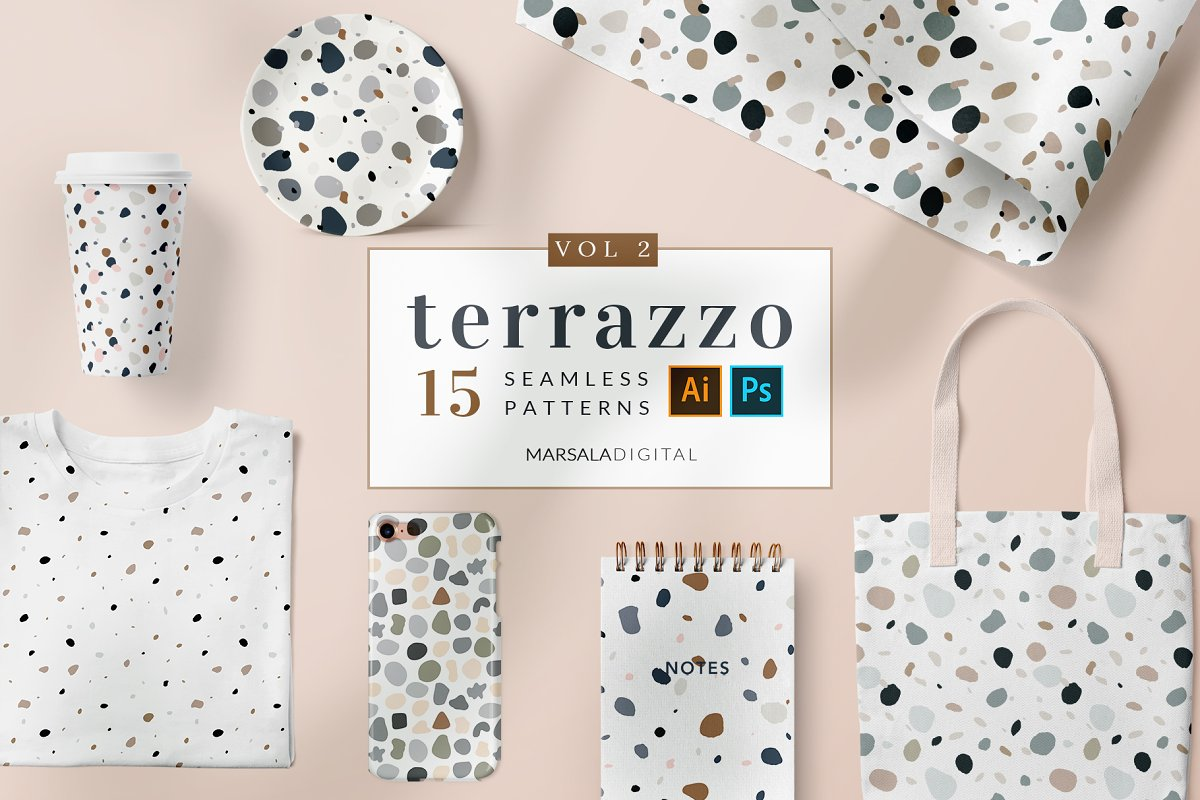 Terrazzo Seamless Patterns Vol2
