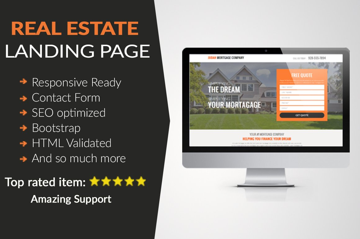 Real Estate Landing Page HTML ~ HTML/CSS Themes ~ Creative Market