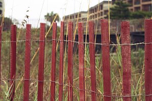 red fencing