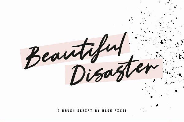 Beautiful Disaster Script Font
