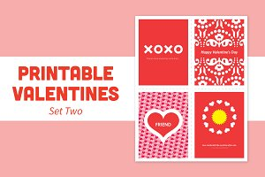 Printable Valentines – Set Two