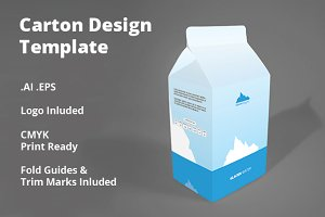 Carton Package Design Template