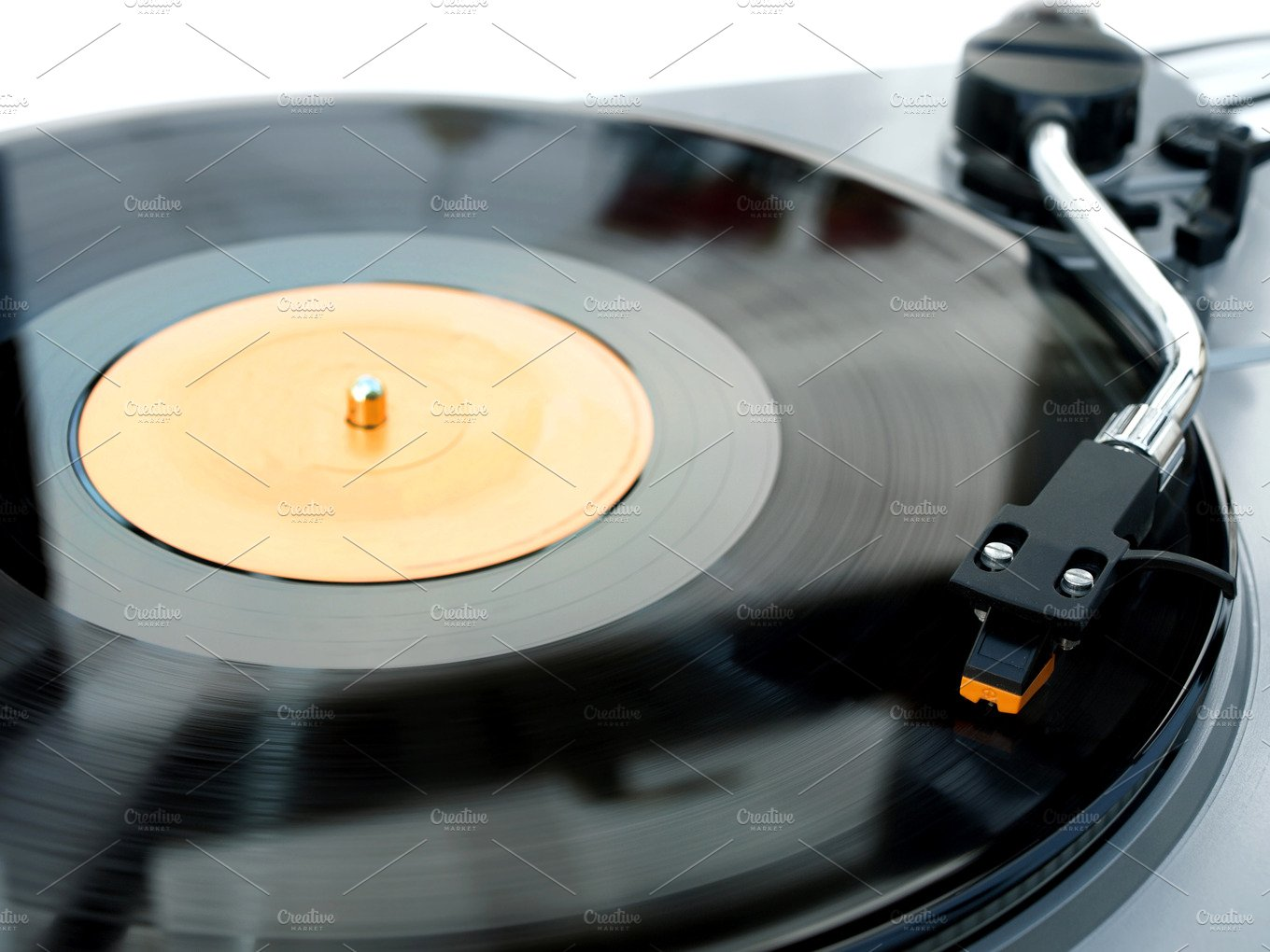 Record Player With Vinyl Playing Technology Photos