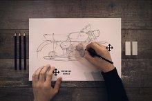 Pencil sketch mock up