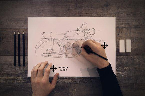 Download Pencil sketch mock up