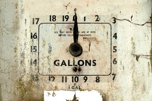 Rustic Gas Pump Dial