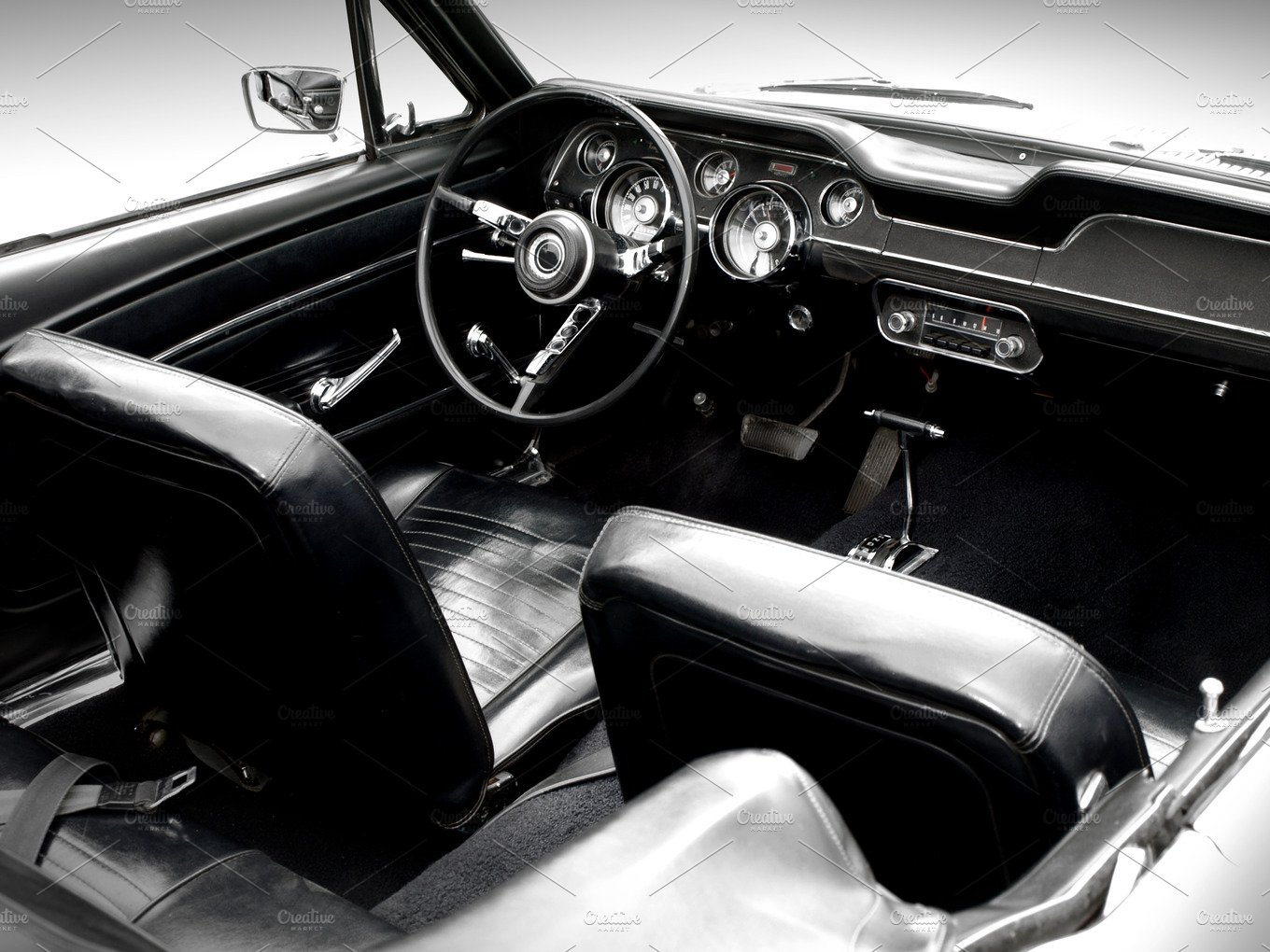 vintage car interior transportation photos creative market. Black Bedroom Furniture Sets. Home Design Ideas
