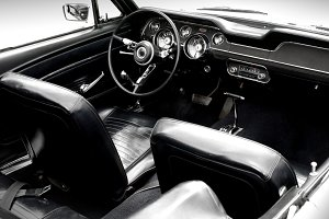 classic beige car interior transportation photos creative market. Black Bedroom Furniture Sets. Home Design Ideas