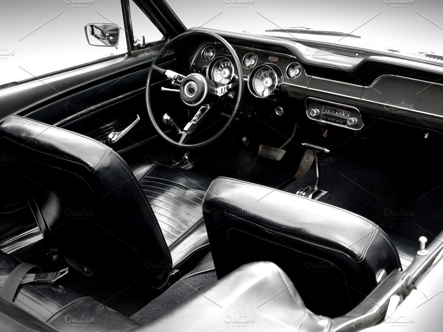 Vintage Car Interior Transportation Photos Creative Market