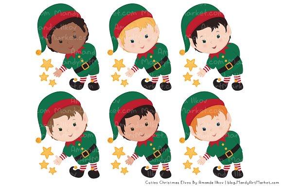 Cute Christmas Elves  Patterns  Illustrations  Creative Market
