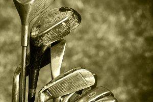 Vintage Set of Golf Clubs