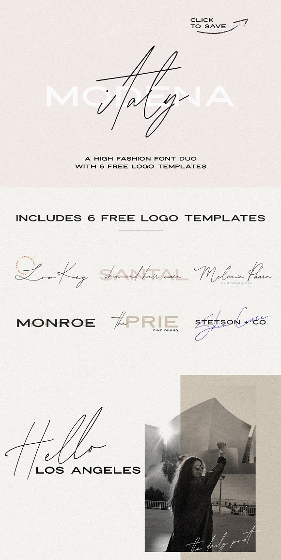 Modena | Duo with 6 Free Logos in Sans-Serif Fonts - product preview 19