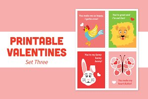 Printable Valentines – Set Three