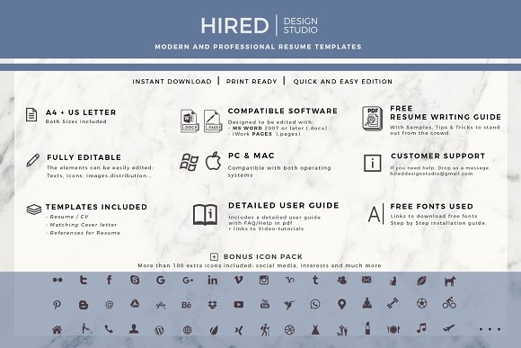 Creative Cv Resume Template Icons