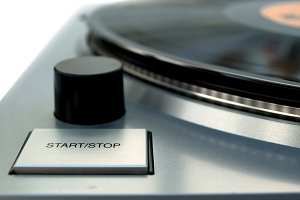 Vintage Record Player Detail