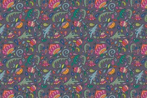 Floral pattern (5 color variations)