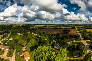 Midwest Aerial Summer Day Panorama