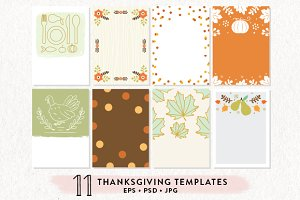 11 Thanksgiving Printables Bundle
