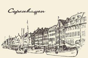 Streets in Copenhagen (Denmark)