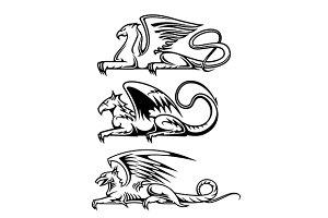 Medieval gryphons set
