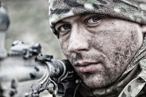 Army soldier infantryman shooting ~ People Photos ~ Creative ...