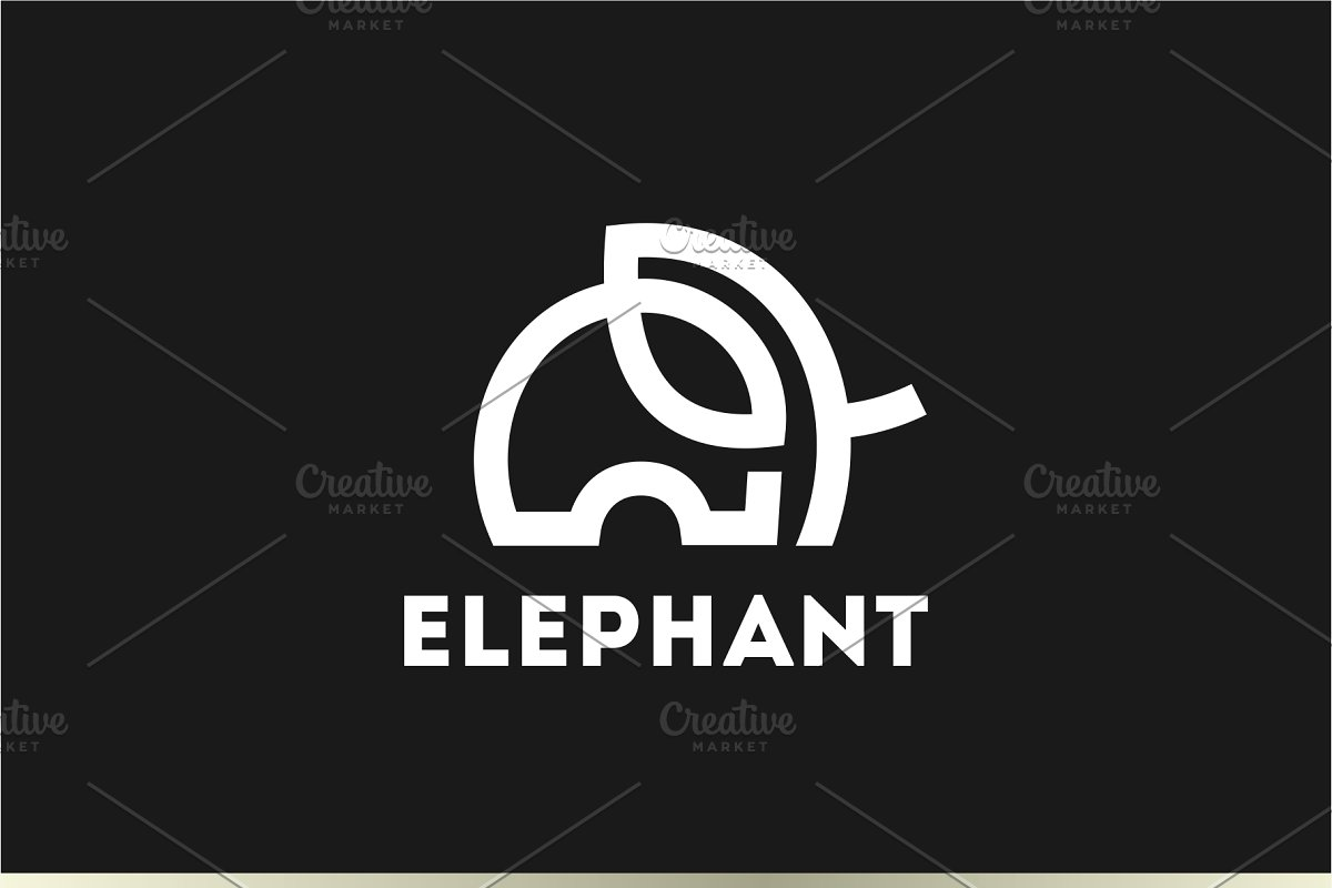 Elephant Logo in Logo Templates - product preview 8