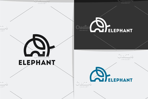 Elephant Logo in Logo Templates - product preview 1