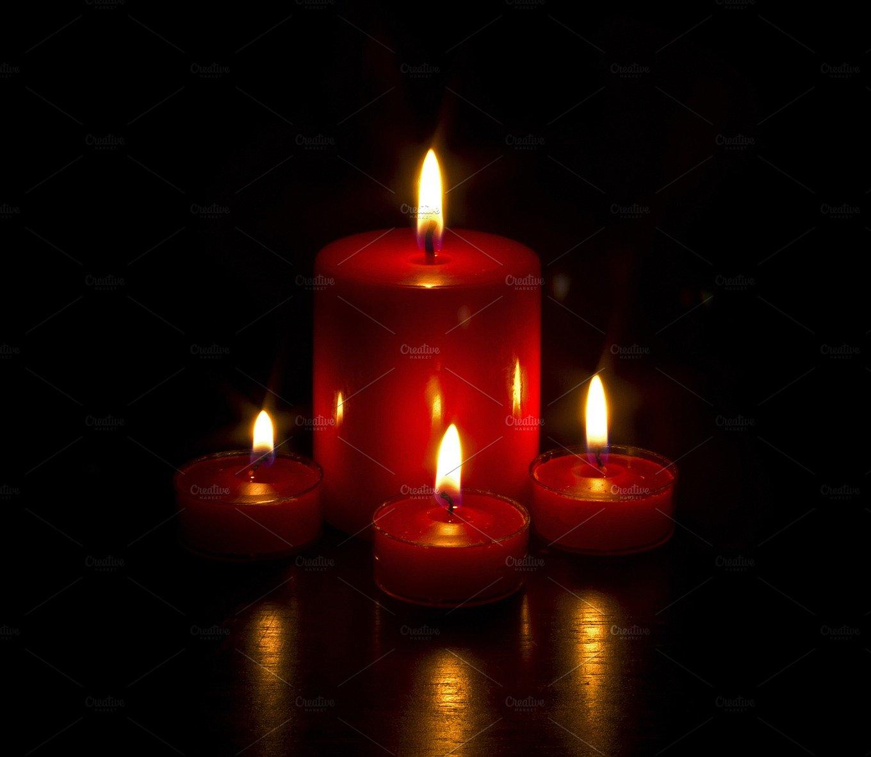Burning Candles ~ Holiday Photos ~ Creative Market